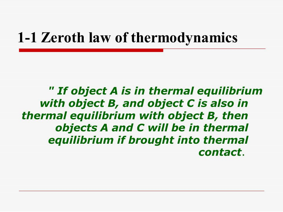 1-1 Zeroth law of thermodynamics