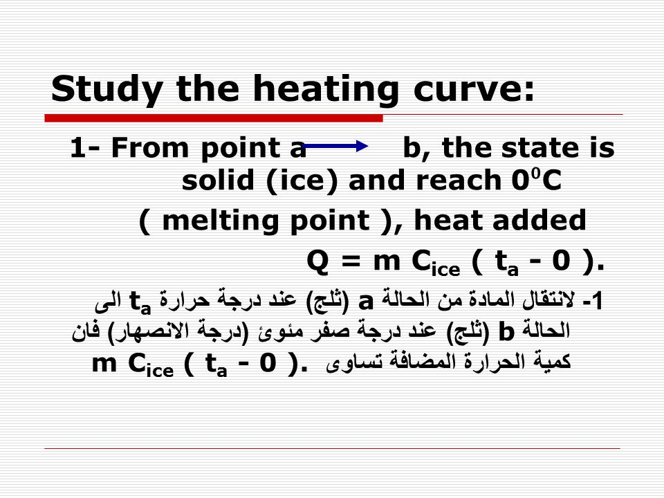 Study the heating curve: