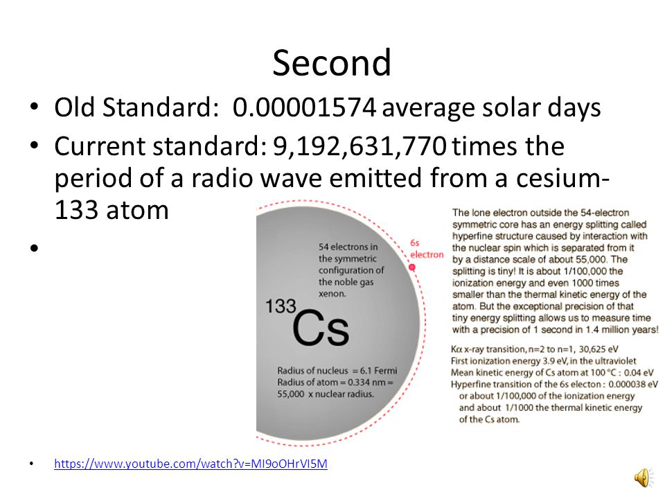 Second Old Standard: 0.00001574 average solar days