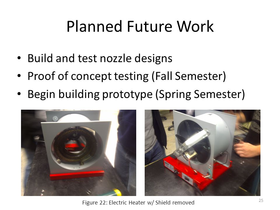 Planned Future Work Build and test nozzle designs