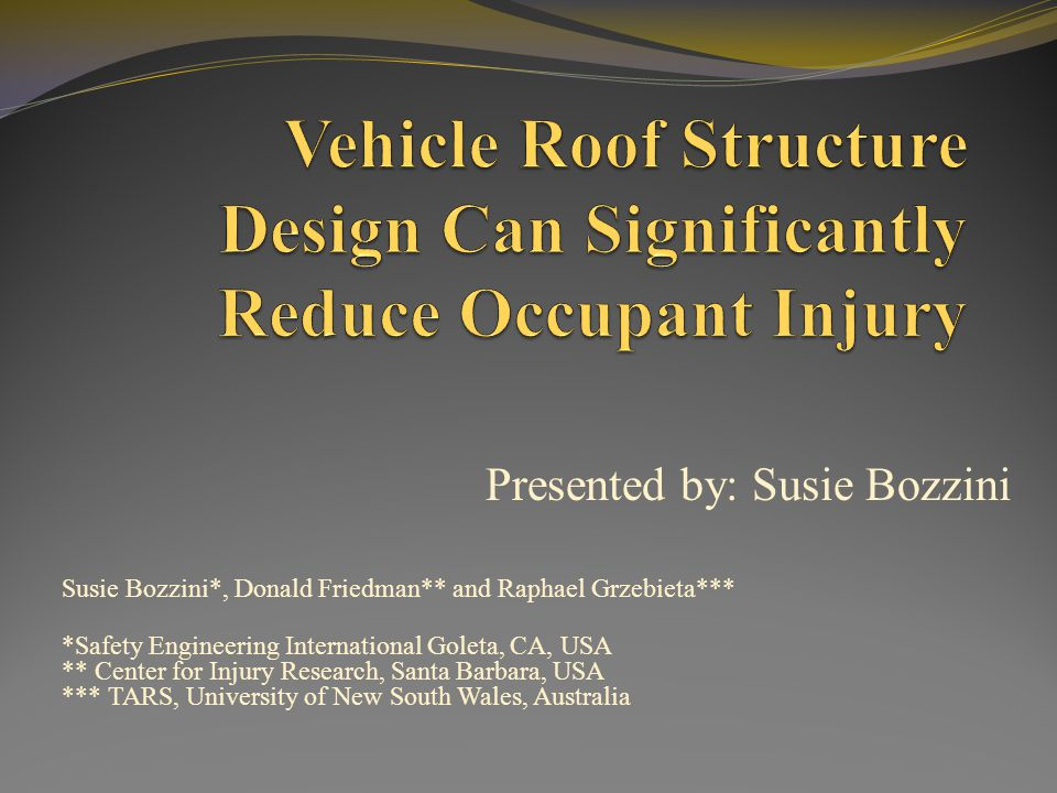 Vehicle Roof Structure Design Can Significantly Reduce Occupant Injury