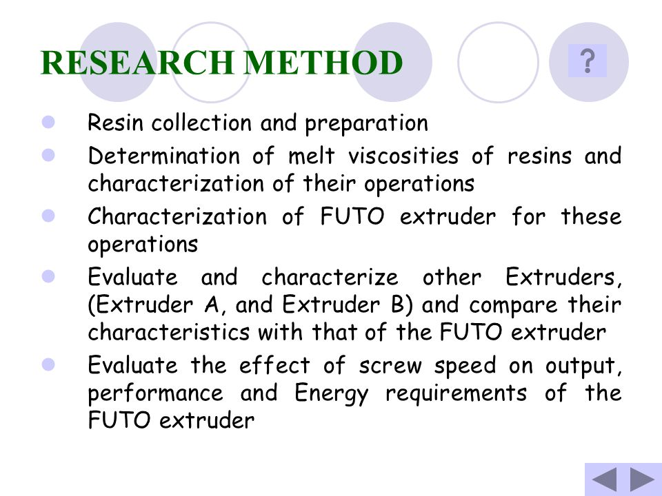 RESEARCH METHOD Resin collection and preparation