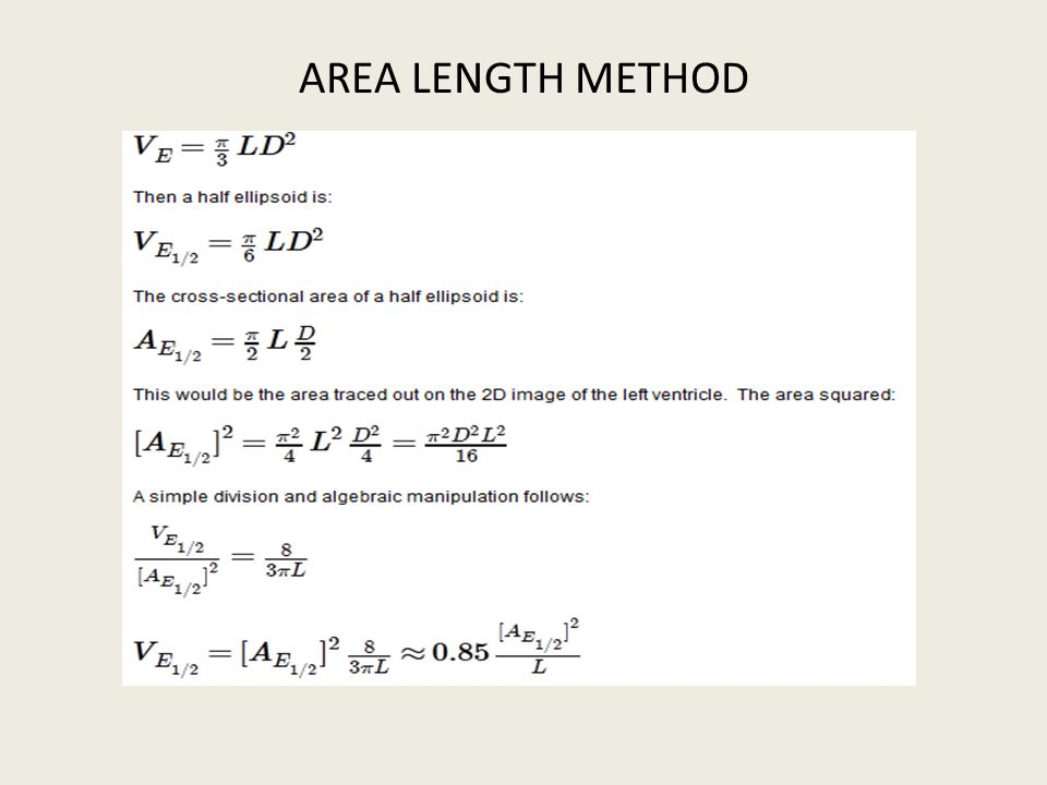 AREA LENGTH METHOD