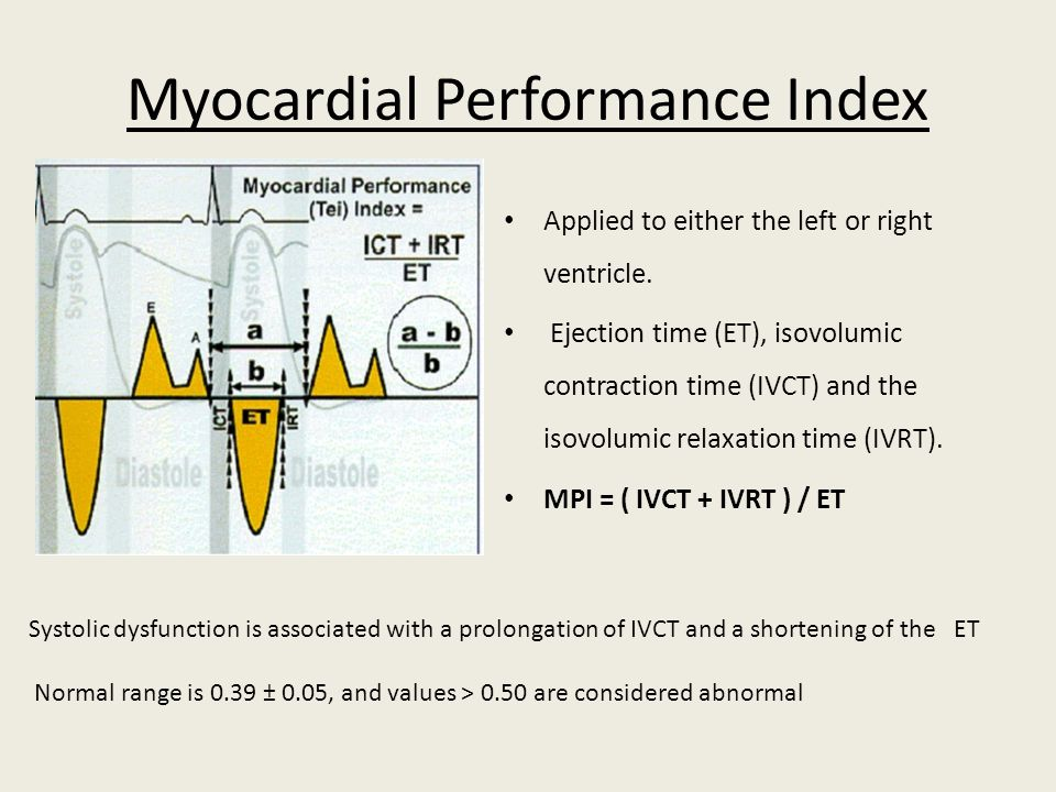 Myocardial Performance Index