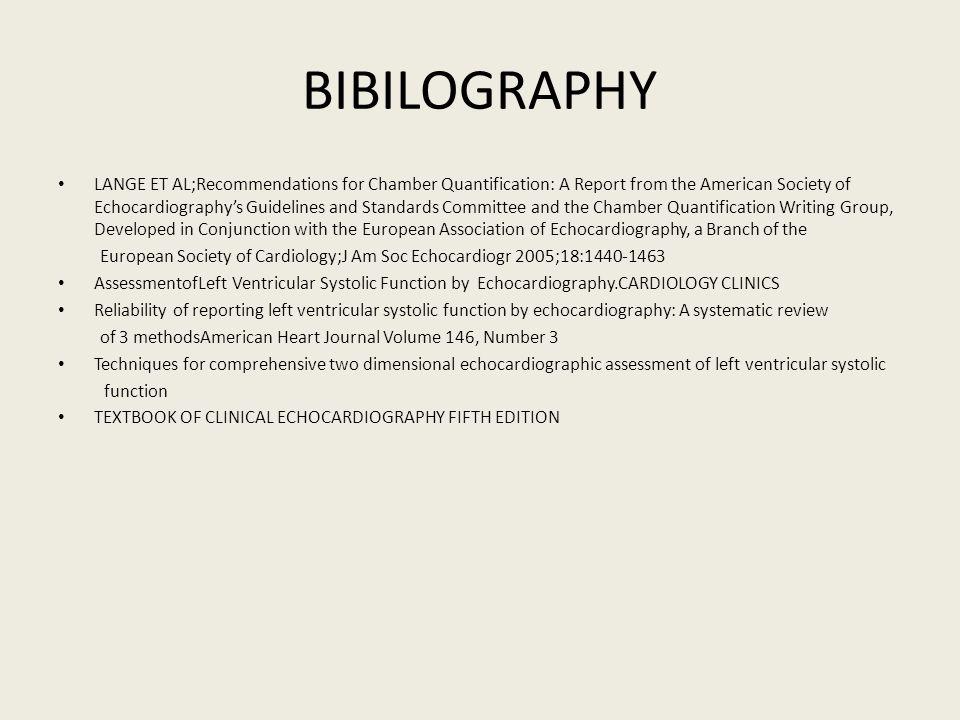 BIBILOGRAPHY