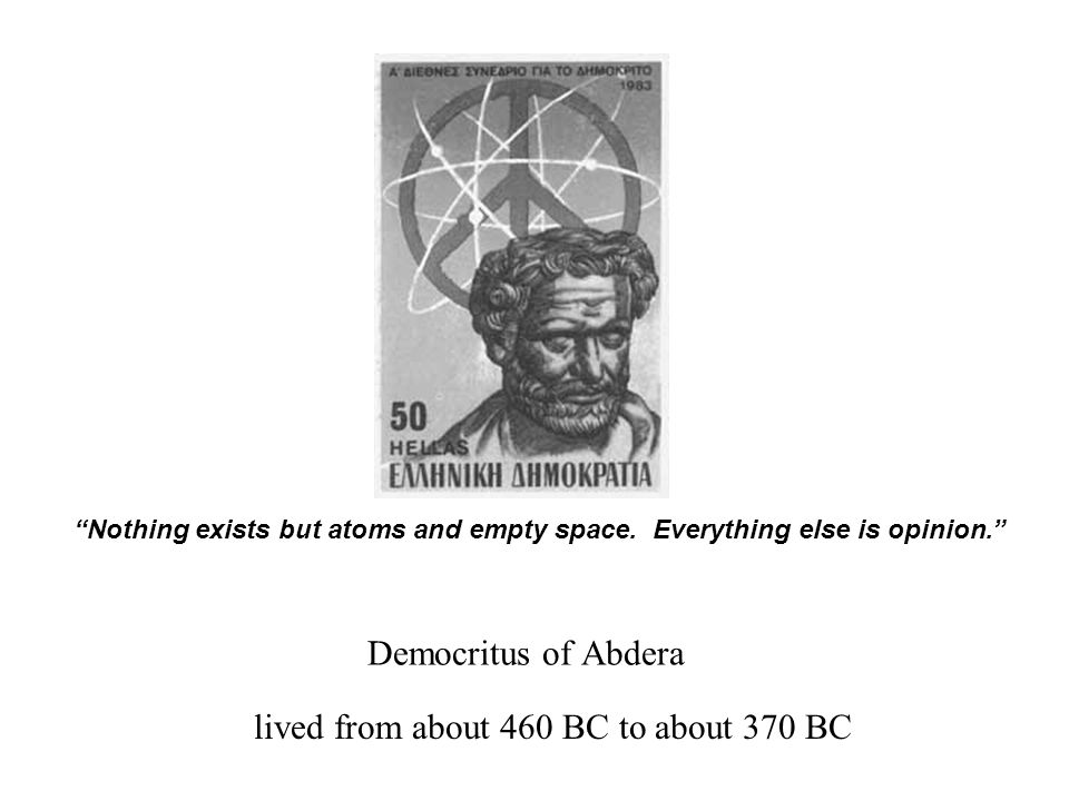 lived from about 460 BC to about 370 BC