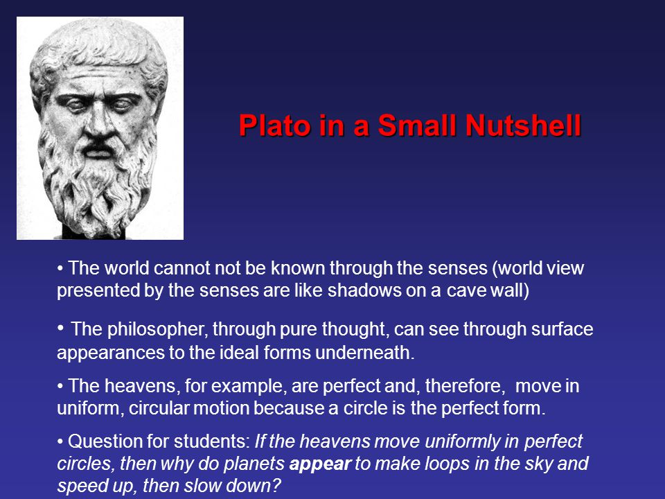 Plato in a Small Nutshell