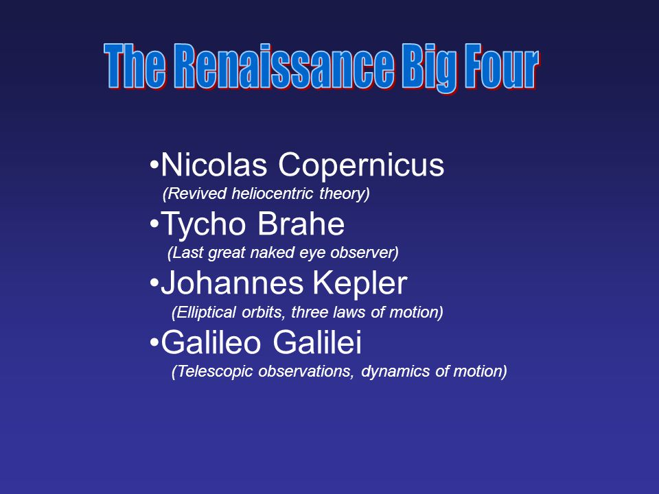 The Renaissance Big Four