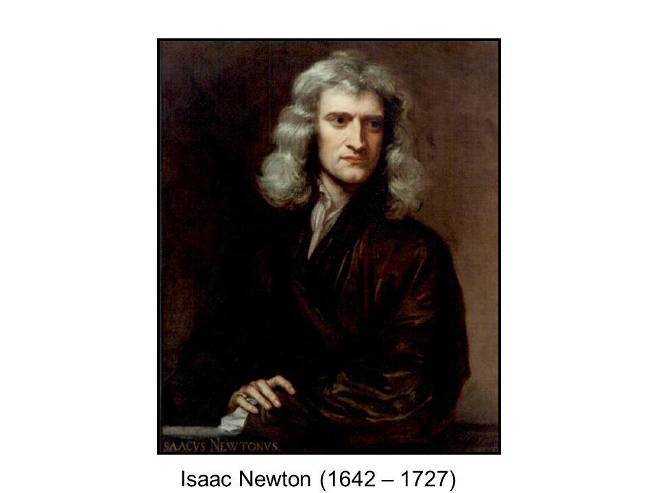 Isaac Newton (1642 – 1727)
