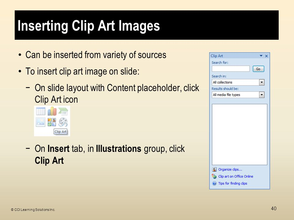Inserting Clip Art Images