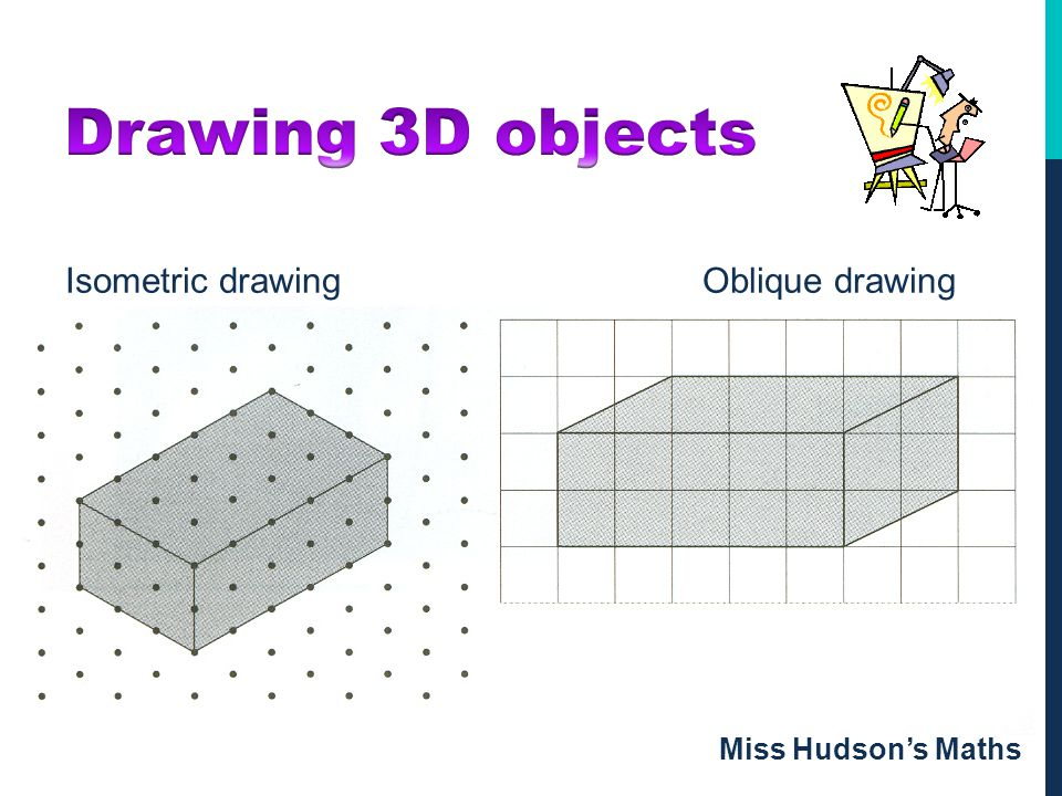 Drawing 3D objects Isometric drawing Oblique drawing