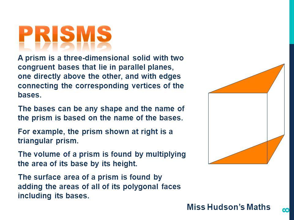 Prisms Miss Hudson's Maths