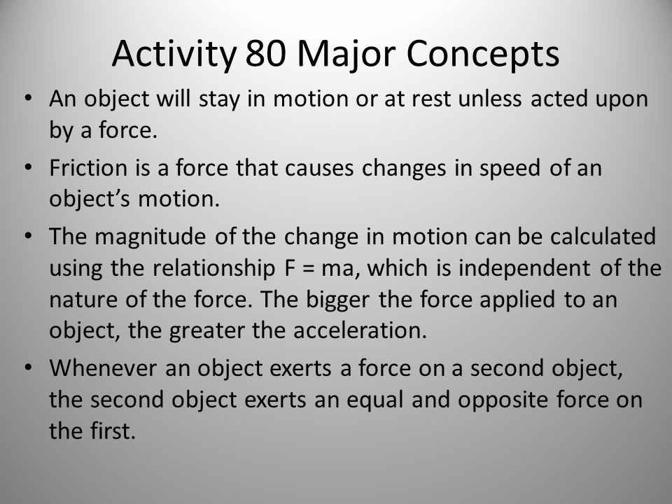 Activity 80 Major Concepts