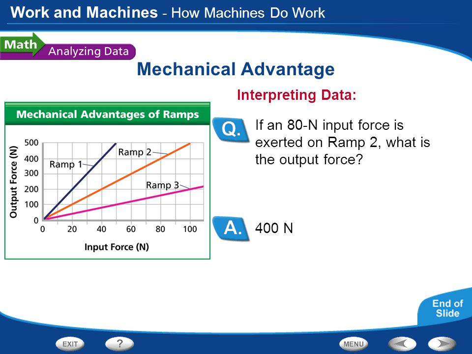 Mechanical Advantage - How Machines Do Work Interpreting Data: