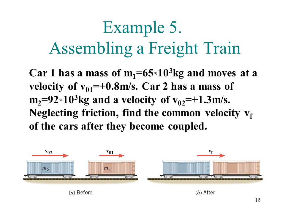 Example 5. Assembling a Freight Train