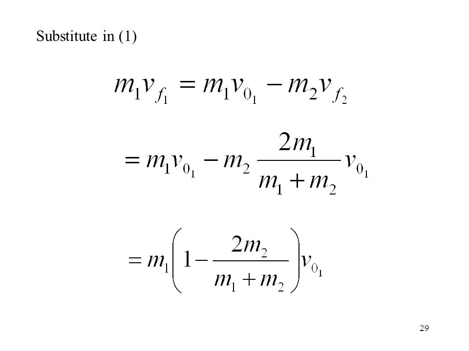 Substitute in (1)