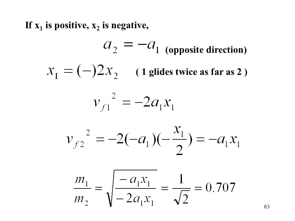 If x1 is positive, x2 is negative,
