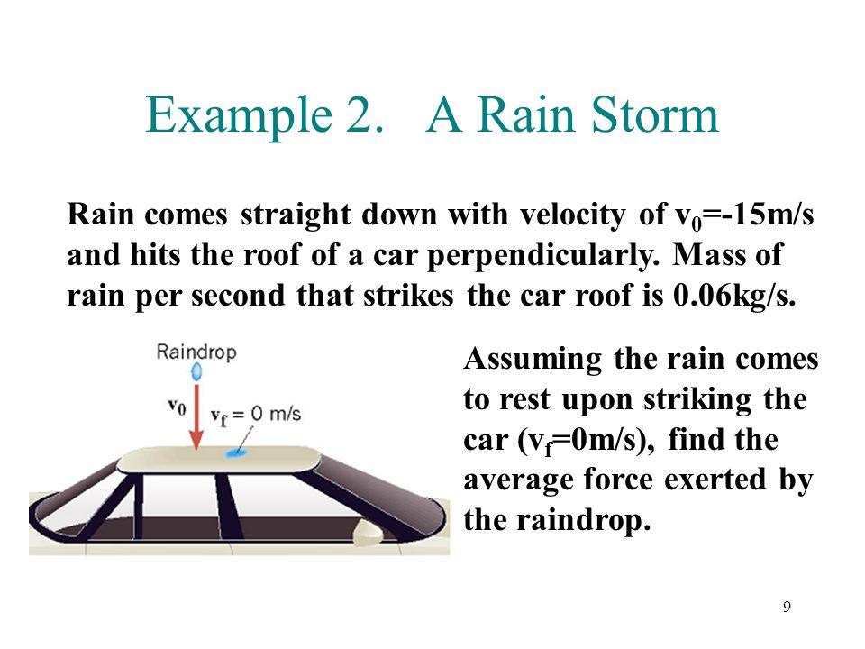 Example 2. A Rain Storm