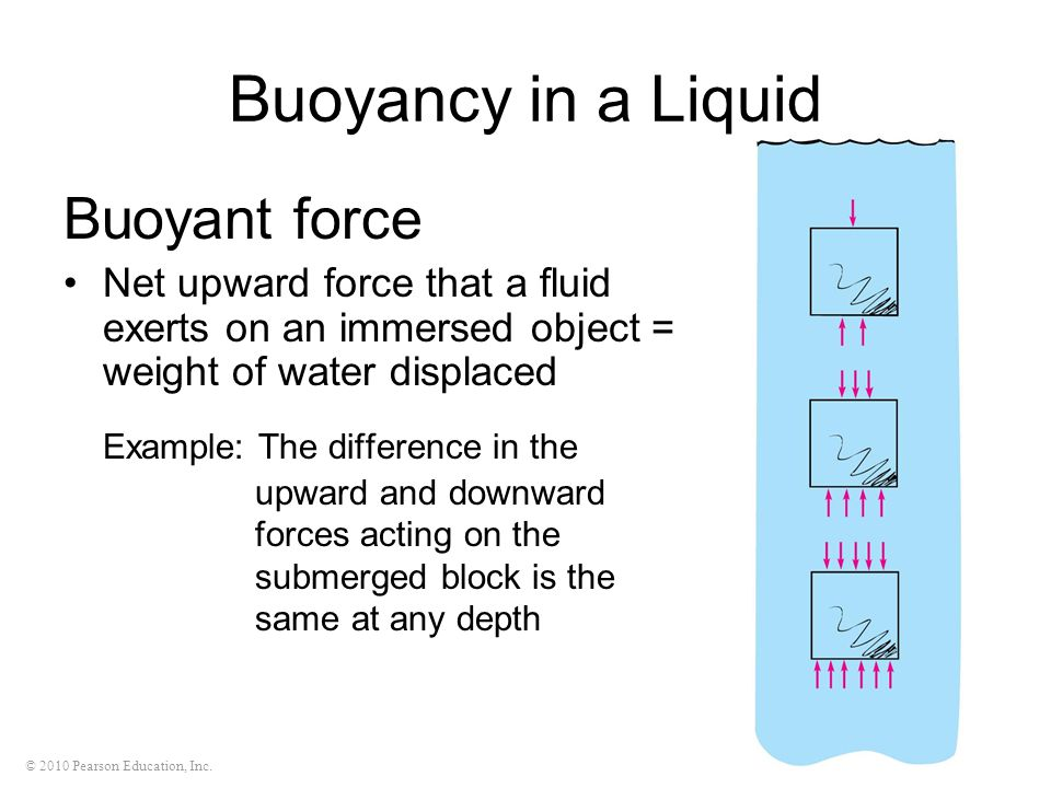 Buoyancy in a Liquid Buoyant force