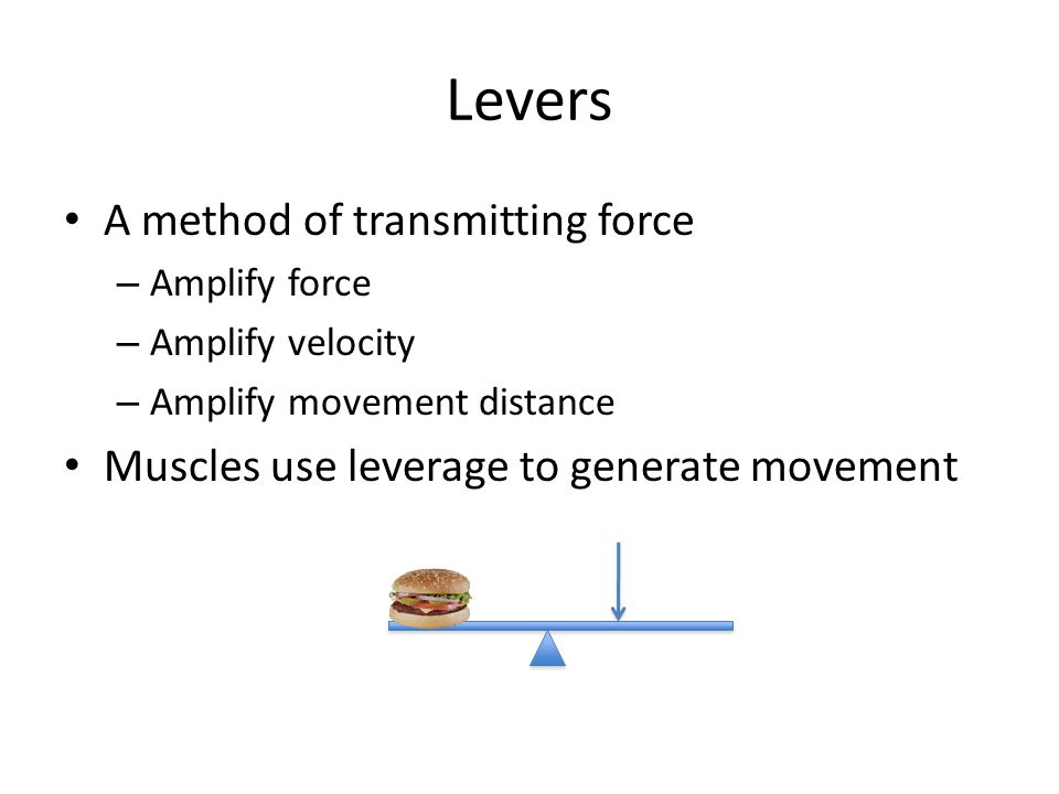 Levers A method of transmitting force