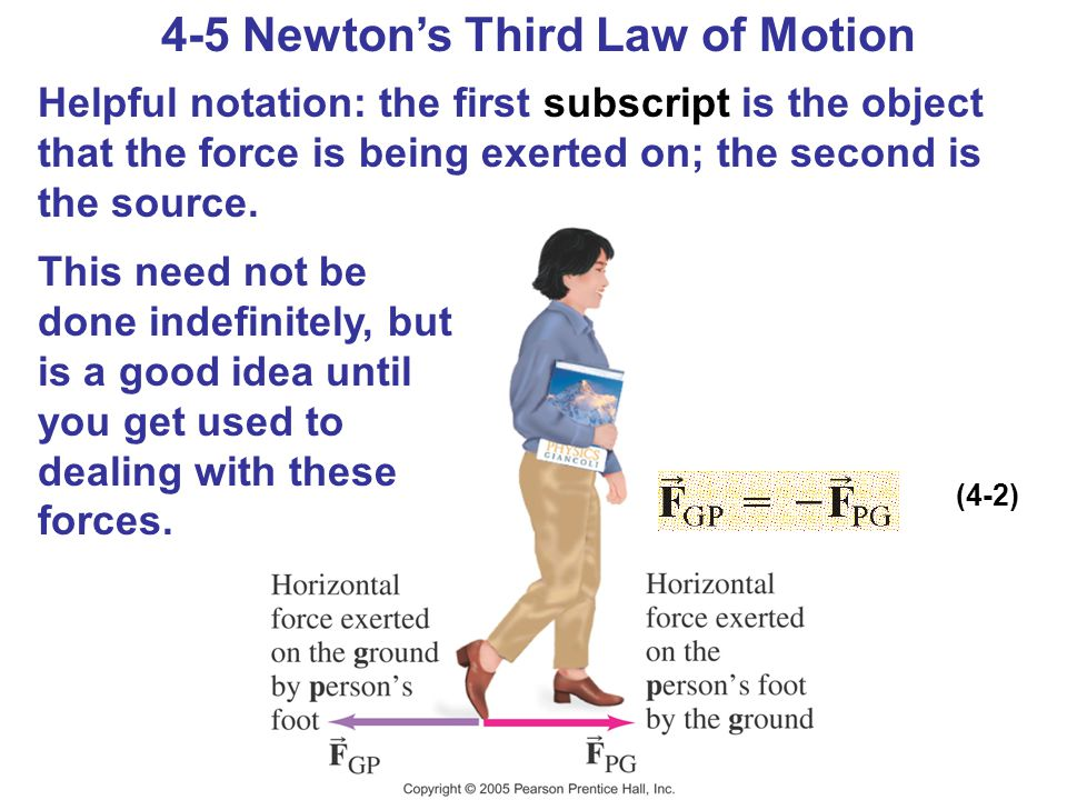 4-5 Newton's Third Law of Motion