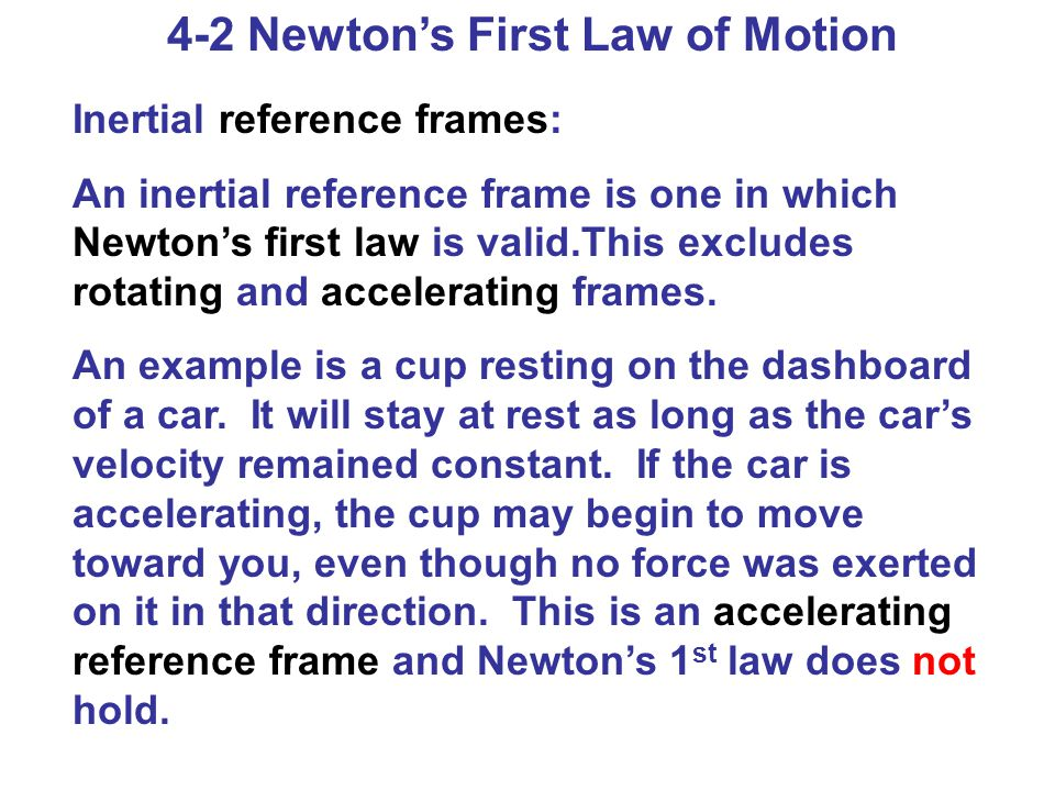 4-2 Newton's First Law of Motion
