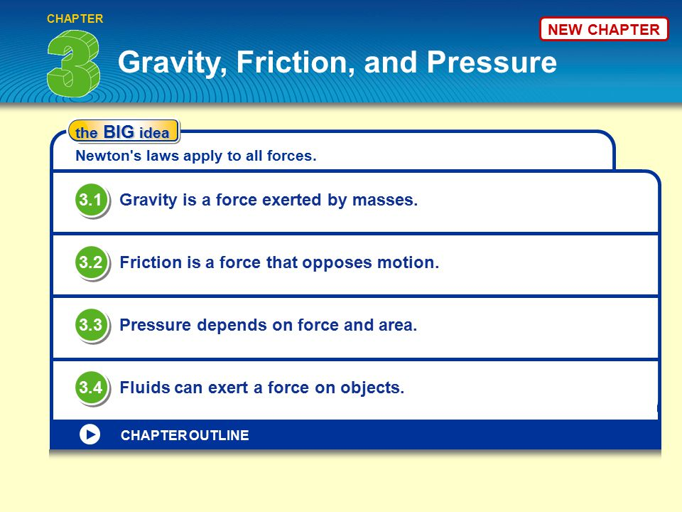 Gravity, Friction, and Pressure