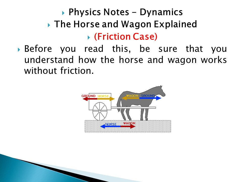 Physics Notes - Dynamics The Horse and Wagon Explained