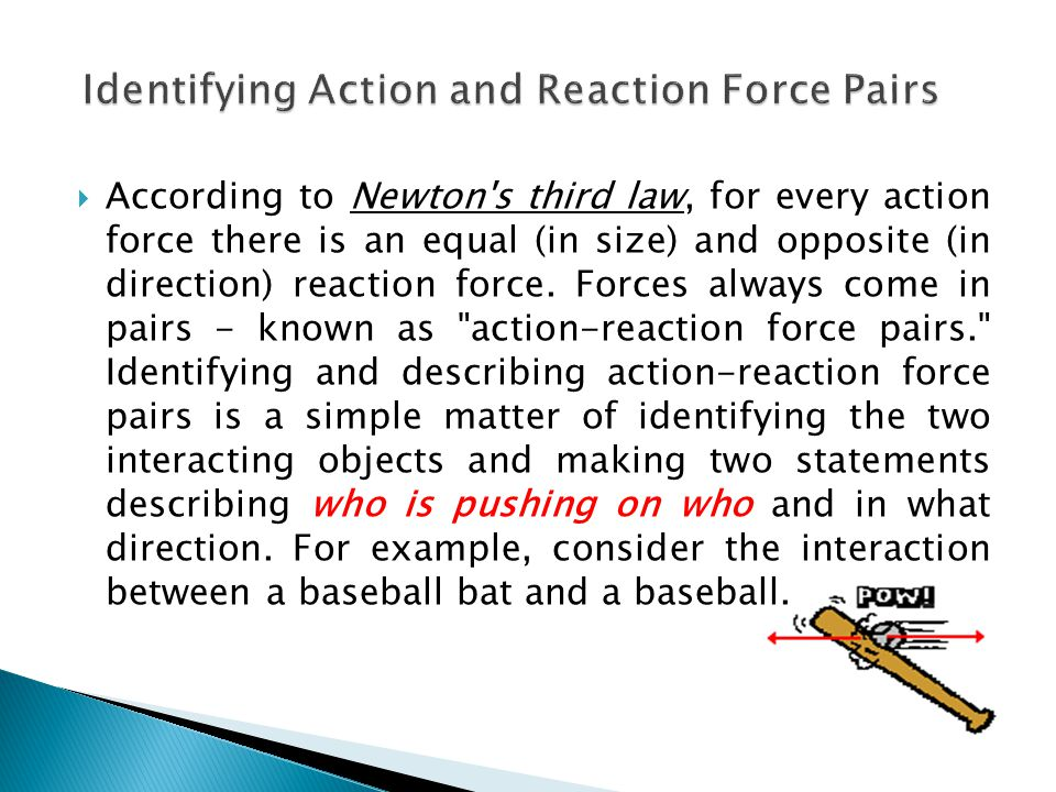 Identifying Action and Reaction Force Pairs