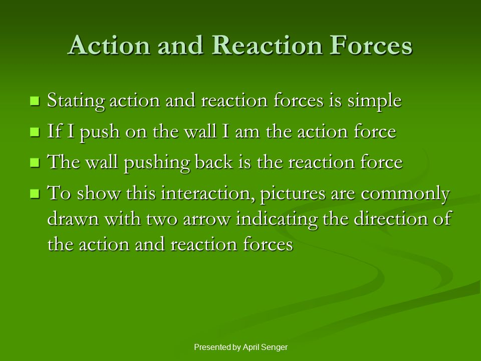 Action and Reaction Forces
