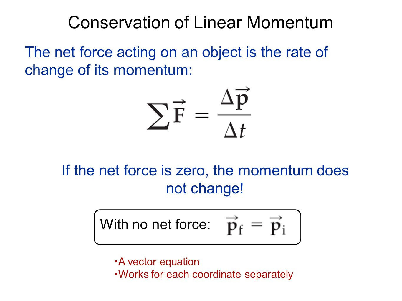 Momentum Conservation and Newton's Laws