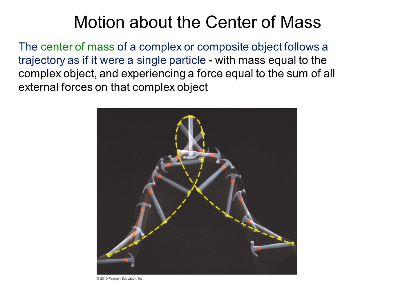 Motion about the Center of Mass