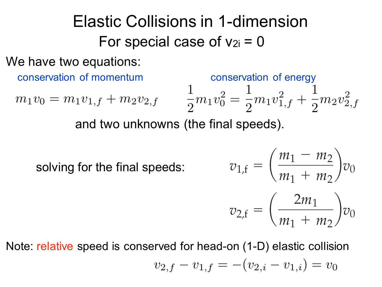Elastic Collisions in 1-dimension