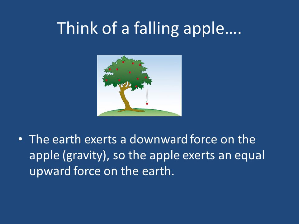 Think of a falling apple….