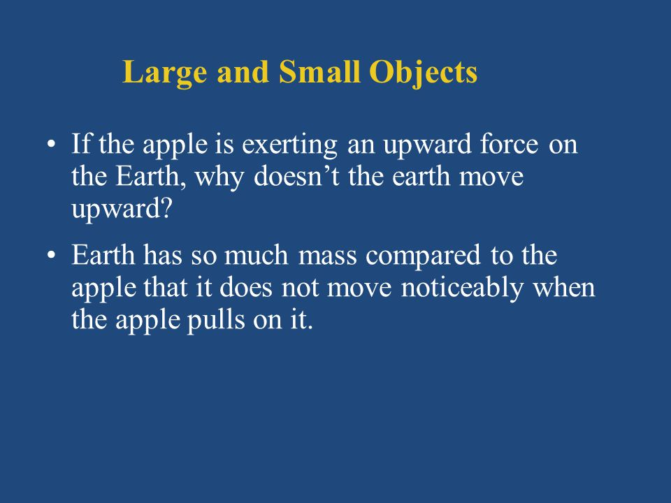 Large and Small Objects