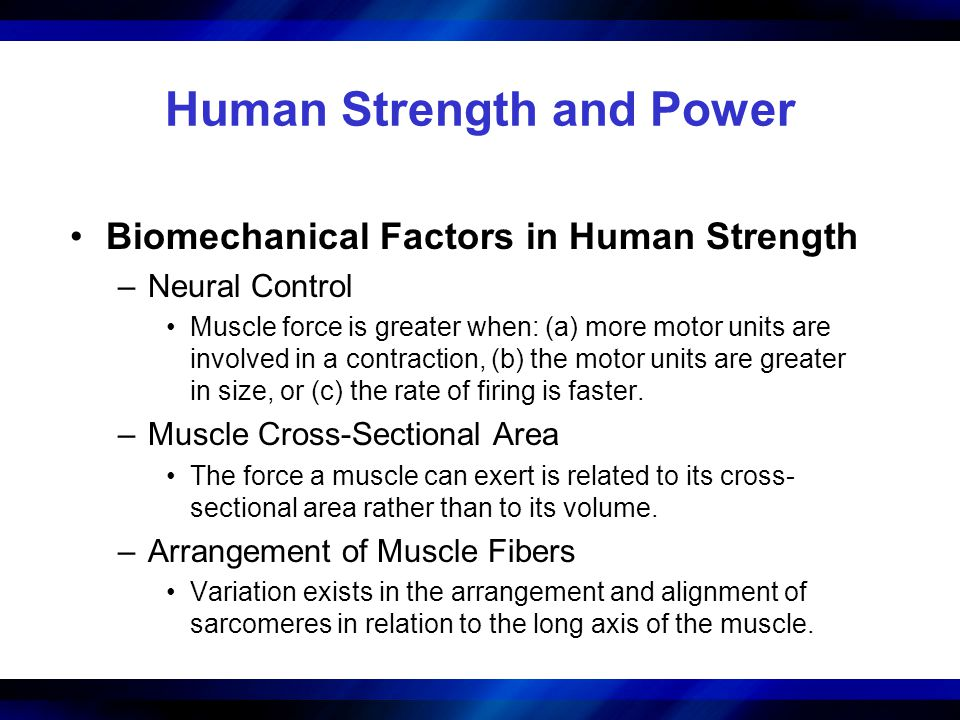 Human Strength and Power