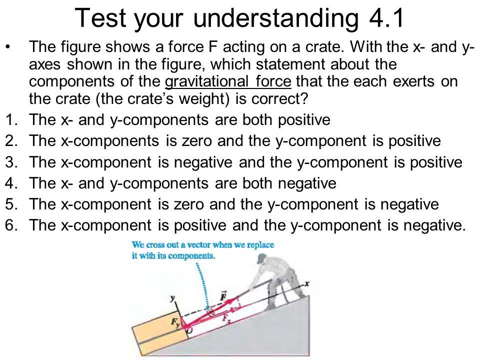 Test your understanding 4.1