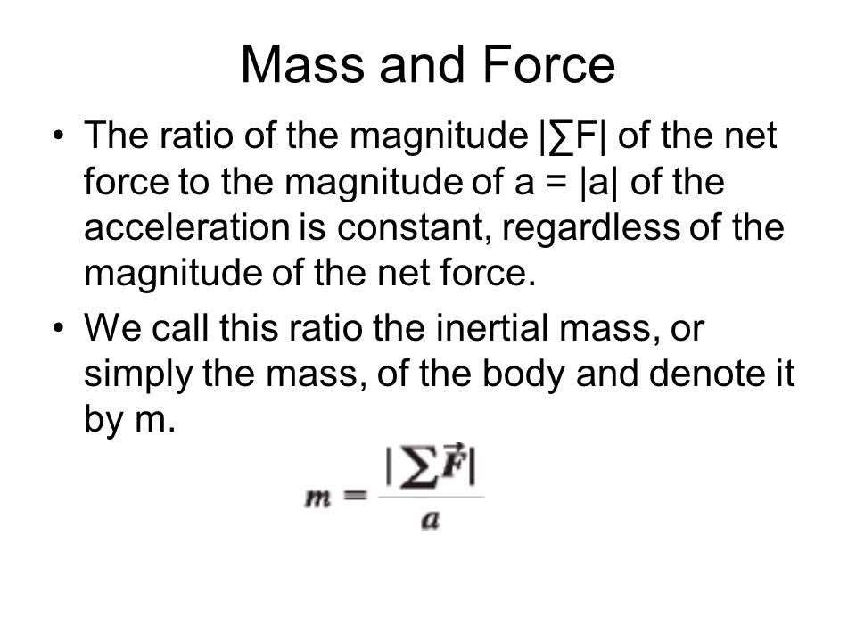 Mass and Force