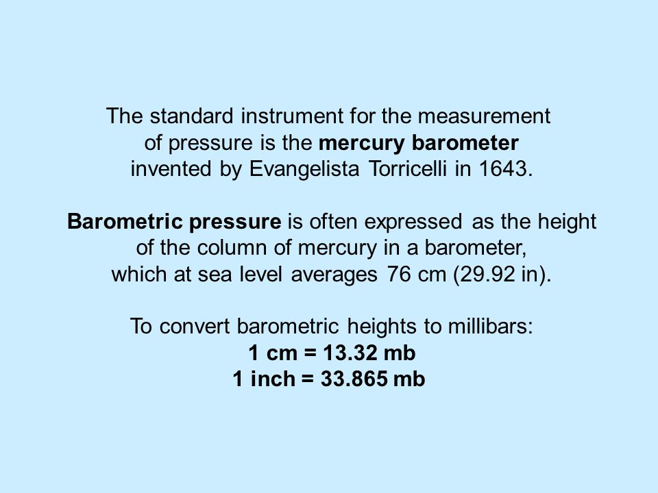 The standard instrument for the measurement