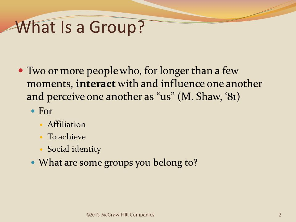 What Is a Group