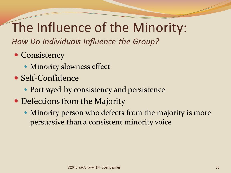 The Influence of the Minority: How Do Individuals Influence the Group
