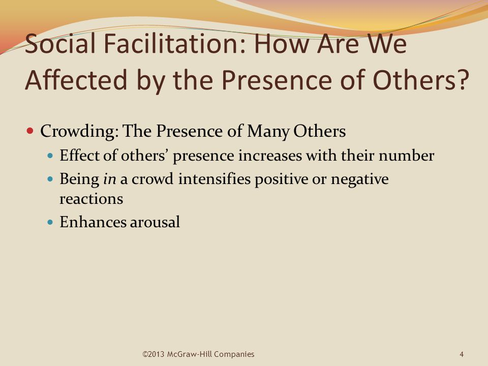 Social Facilitation: How Are We Affected by the Presence of Others