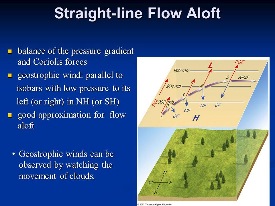 Straight-line Flow Aloft