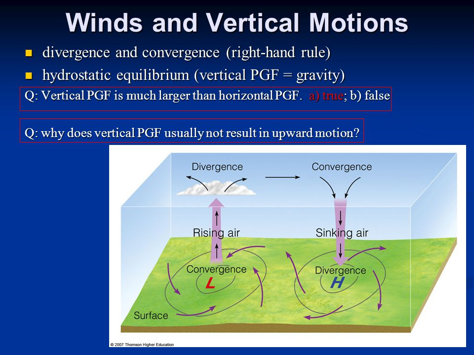 Winds and Vertical Motions