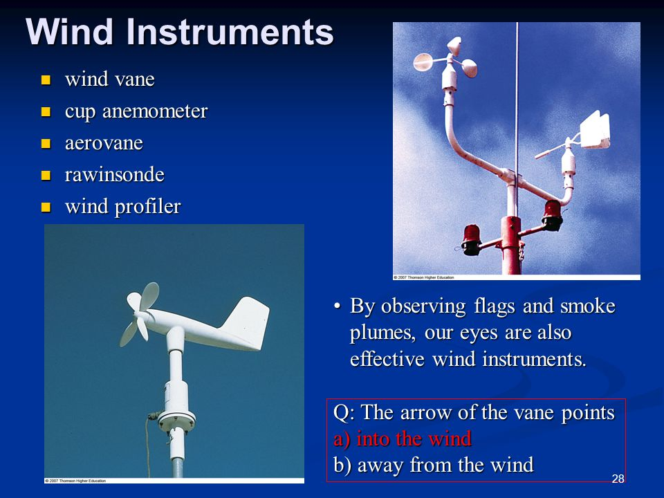 Wind Instruments wind vane cup anemometer aerovane rawinsonde