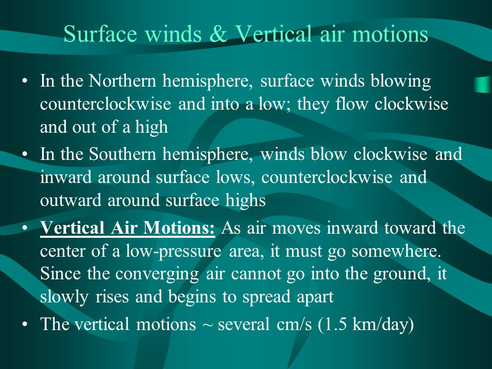 Surface winds & Vertical air motions