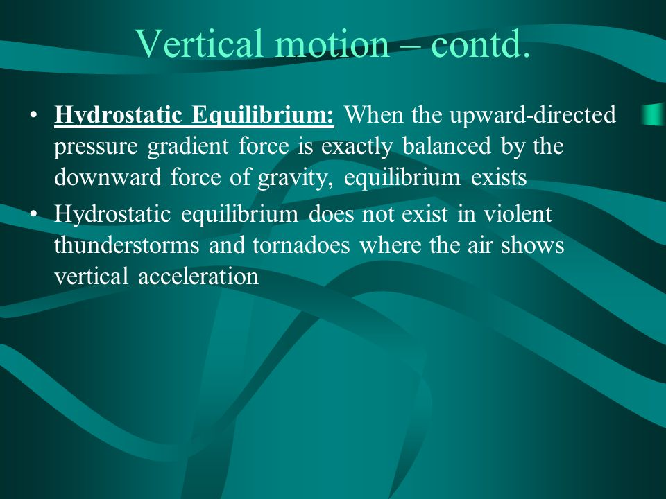Vertical motion – contd.