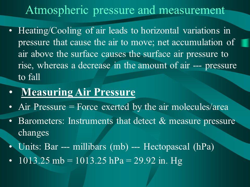 Atmospheric pressure and measurement