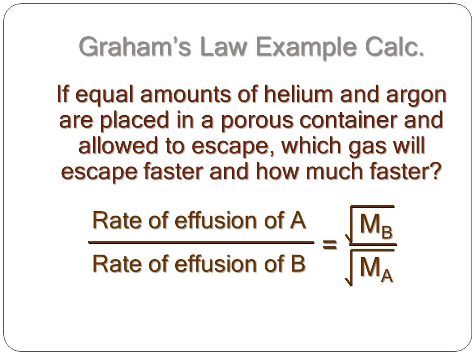 Graham's Law Example Calc.