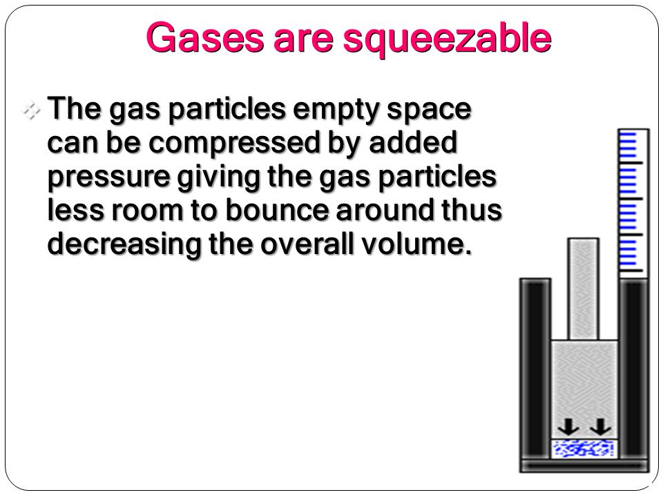 Gases are squeezable